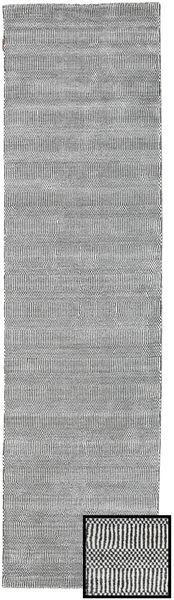 Bambu Grass - Black_ Grå Matta 80X290 Modern Hallmatta Ljusgrå/Ljusgrön (Ull/Bambusilke, Turkiet)