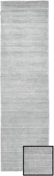 Bambu Grass - Grå Matta 80X290 Modern Hallmatta Ljusgrå/Vit/Cremefärgad (Ull/Bambusilke, Turkiet)