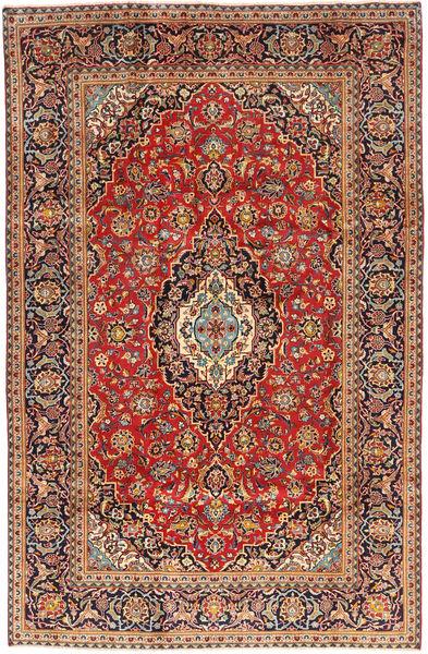 Keshan Matta 195X300 Äkta Orientalisk Handknuten Mörkröd/Roströd (Ull, Persien/Iran)