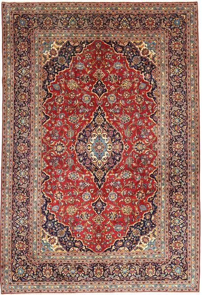 Keshan Matta 252X368 Äkta Orientalisk Handknuten Mörkröd/Mörkbrun Stor (Ull, Persien/Iran)