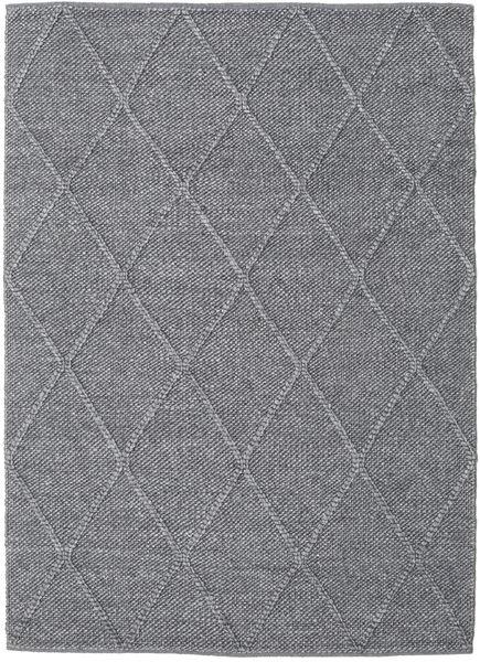 Svea - Kolgrå Matta 140X200 Äkta Modern Handvävd Ljusgrå/Mörkgrå (Ull, Indien)