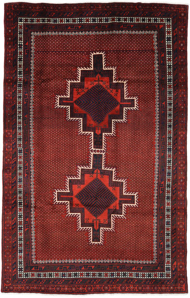 Ghashghai Matta 182X285 Äkta Orientalisk Handknuten Mörkröd/Mörkbrun (Ull, Persien/Iran)