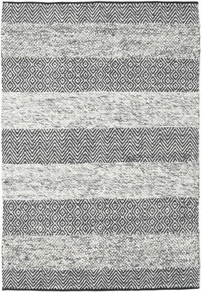 Folke - Grå Matta 140X200 Äkta Modern Handvävd Ljusgrå/Mörkgrå (Ull, Indien)