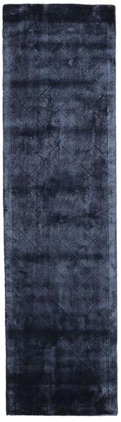 Brooklyn - Midnattsblå Matta 80X300 Modern Hallmatta Mörkblå/Blå ( Indien)
