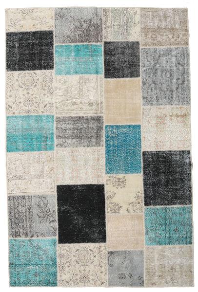 Patchwork Matta 198X301 Äkta Modern Handknuten Ljusgrå/Mörkgrå (Ull, Turkiet)