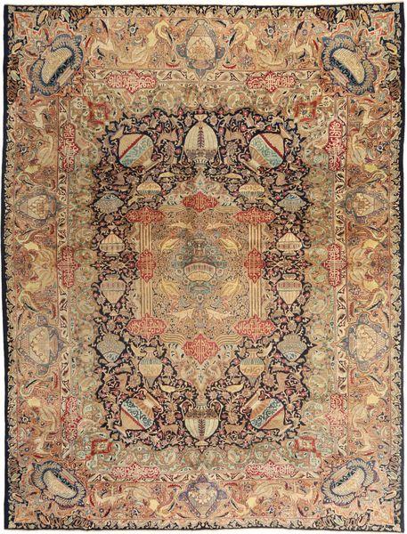 Kashmar Patina Matta 290X380 Äkta Orientalisk Handknuten Ljusbrun/Brun Stor (Ull, Persien/Iran)