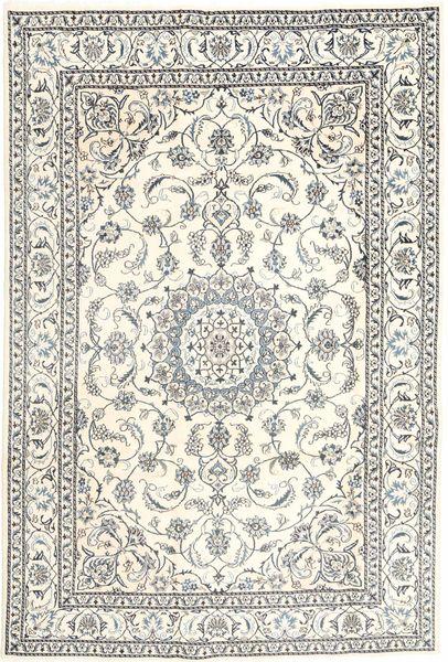 Nain Matta 196X293 Äkta Orientalisk Handknuten Ljusgrå/Beige (Ull, Persien/Iran)