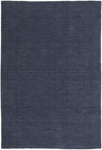 Kelim Loom - Denim Blå Matta 200X300 Äkta Modern Handvävd Mörkblå/Blå (Ull, Indien)
