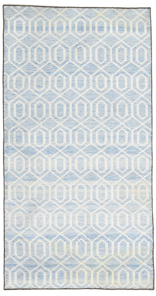 Jakart Kelim Matta 68X132 Äkta Modern Handvävd Vit/Cremefärgad/Beige (Ull, Indien)