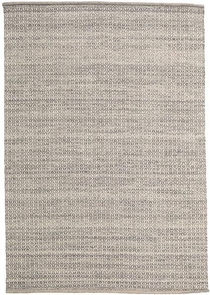 Alva - Brun/Vit Matta 160X230 Äkta Modern Handvävd Ljusgrå (Ull, Indien)