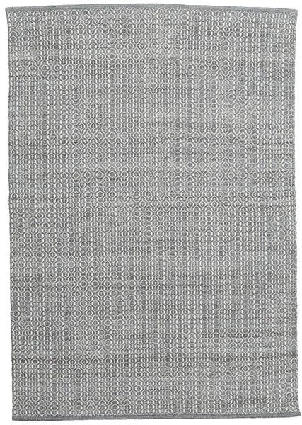 Alva - Mörkgrå/Vit Matta 160X230 Äkta Modern Handvävd Mörkgrå/Ljusgrå/Ljusgrön (Ull, Indien)