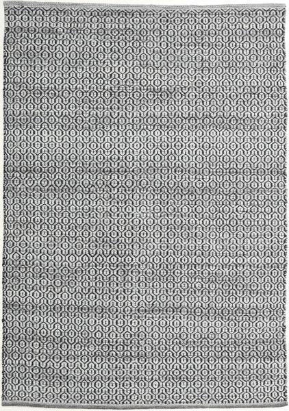 Alva - Grå/Svart Matta 140X200 Äkta Modern Handvävd Mörkgrå/Ljusgrå (Ull, Indien)