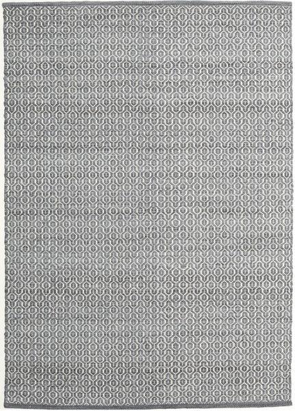 Alva - Mörkgrå/Vit Matta 140X200 Äkta Modern Handvävd Ljusgrå/Mörkgrå (Ull, Indien)