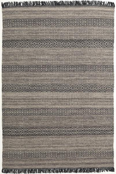 Hedda - Brun Matta 160X230 Äkta Modern Handvävd Mörkgrå/Ljusgrå (Ull, Indien)