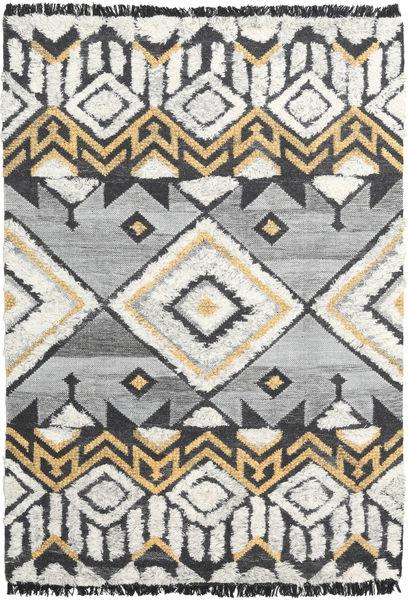 Deco Matta 160X230 Äkta Modern Handvävd Ljusgrå/Mörkbeige (Ull, Indien)