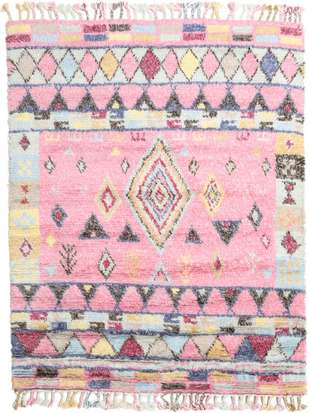 Fanny Matta 160X230 Äkta Modern Handknuten Ljusrosa/Ljusgrå (Ull, Indien)