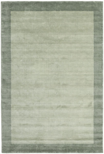 Handloom Frame - Grå/Grön Matta 300X400 Modern Ljusgrön/Pastellgrön Stor (Ull, Indien)