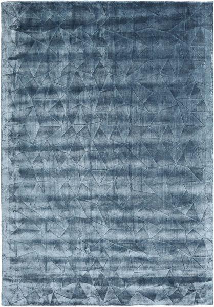 Crystal - Stålblå Matta 160X230 Modern Mörkblå/Blå/Ljusblå ( Indien)