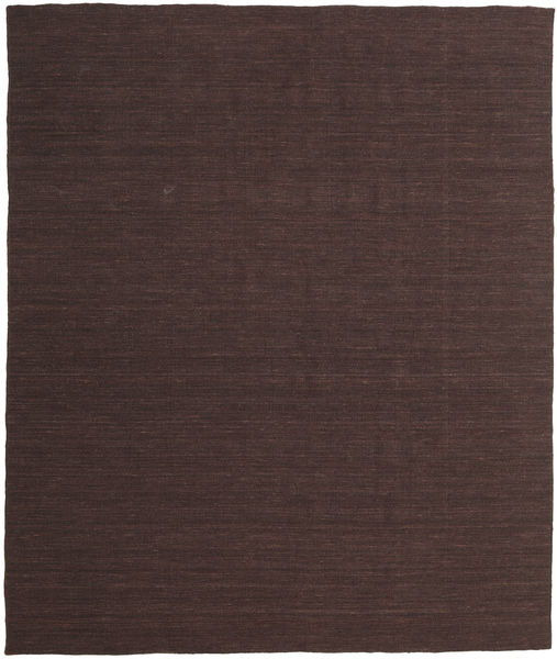 Kelim Loom - Mörkbrun Matta 250X300 Äkta Modern Handvävd Mörkbrun Stor (Ull, Indien)