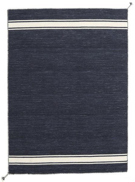 Ernst - Navy/Naturvit Matta 140X200 Äkta Modern Handvävd Mörkblå/Mörkgrå (Ull, Indien)