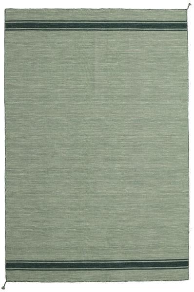 Ernst - Grön/Mörk _Green Matta 200X300 Äkta Modern Handvävd Olivgrön/Ljusgrön/Pastellgrön (Ull, Indien)