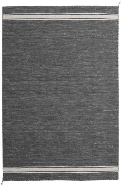 Ernst - Mörkgrå/Ljusbeige Matta 200X300 Äkta Modern Handvävd Mörkgrå/Mörkbrun (Ull, Indien)
