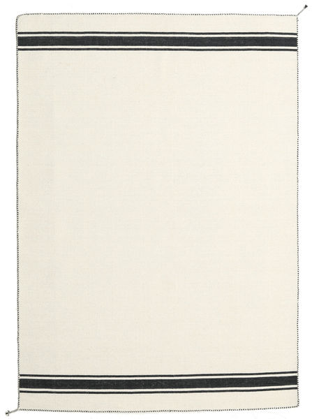 Ernst - Naturvit/Svart Matta 170X240 Äkta Modern Handvävd Beige (Ull, Indien)