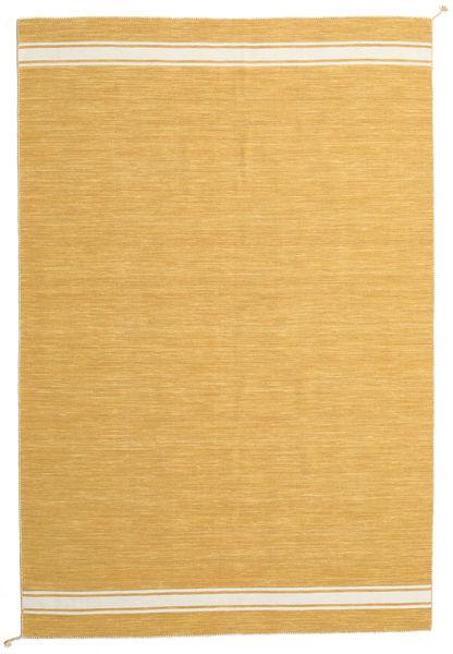 Ernst - Senap/Naturvit Matta 200X300 Äkta Modern Handvävd Ljusbrun/Mörkbeige (Ull, Indien)