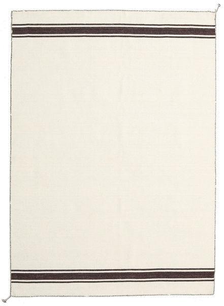 Ernst - Naturvit/Brun Matta 170X240 Äkta Modern Handvävd Beige (Ull, Indien)