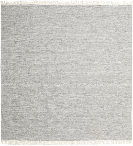 Melerad - Grå Matta 250X250 Äkta Modern Handvävd Kvadratisk Ljusgrå Stor (Ull, Indien)