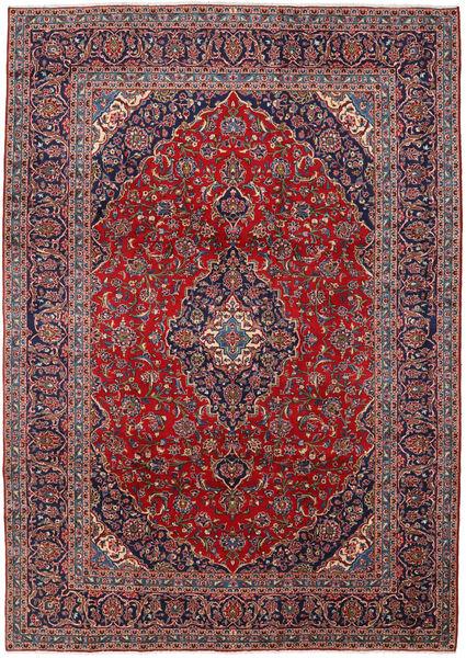 Keshan Matta 250X350 Äkta Orientalisk Handknuten Mörklila/Mörkröd Stor (Ull, Persien/Iran)