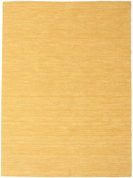 Kelim Loom - Gul Matta 160X230 Äkta Modern Handvävd Ljusbrun/Gul (Ull, Indien)