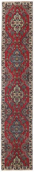 Tabriz Patina Matta 80X430 Äkta Orientalisk Handknuten Hallmatta Mörkröd/Mörkbrun (Ull, Persien/Iran)