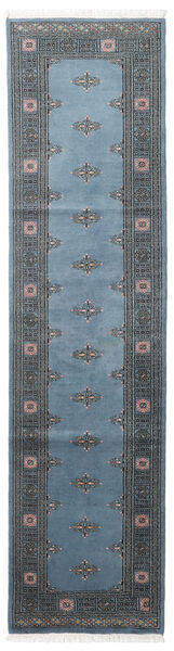 Pakistan Bokhara 2Ply Matta 78X304 Äkta Orientalisk Handknuten Hallmatta Blå/Mörkblå/Mörkgrå (Ull, Pakistan)