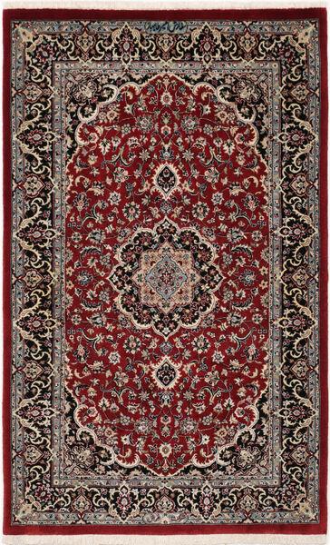 Ilam Sherkat Farsh Silke Matta 78X127 Äkta Orientalisk Handknuten Mörkröd/Mörkbrun (Ull/Silke, Persien/Iran)