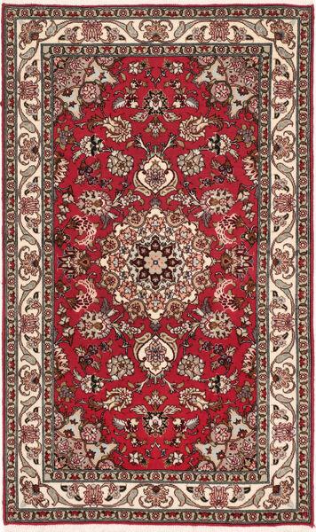 Tabriz 50 Raj Med Silke Matta 75X128 Äkta Orientalisk Handknuten Mörkbrun/Mörkröd (Ull/Silke, Persien/Iran)