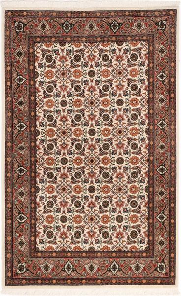 Tabriz 50 Raj Matta 80X129 Äkta Orientalisk Handknuten Mörkbrun/Mörkröd (Ull/Silke, Persien/Iran)