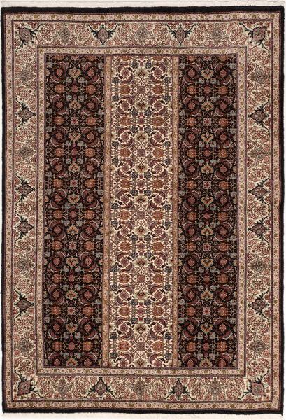 Tabriz 50 Raj Matta 100X155 Äkta Orientalisk Handknuten Mörkbrun/Brun (Ull/Silke, Persien/Iran)