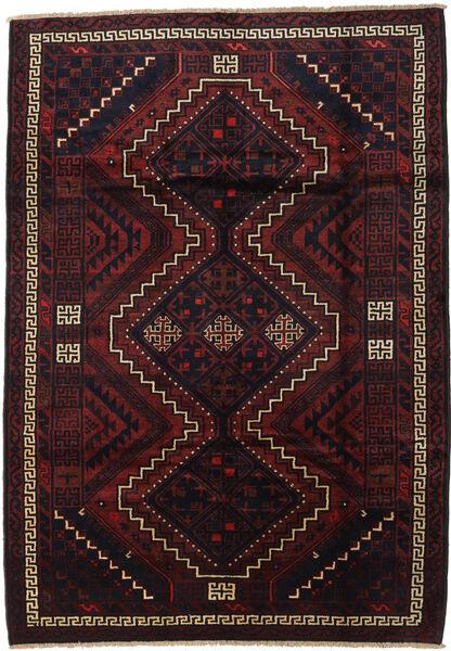 Lori Matta 195X275 Äkta Orientalisk Handknuten Mörkröd (Ull, Persien/Iran)