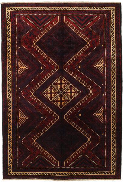 Lori Matta 188X270 Äkta Orientalisk Handknuten Mörkröd (Ull, Persien/Iran)