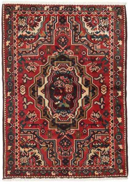 Bakhtiar Matta 103X145 Äkta Orientalisk Handknuten Mörkbrun/Mörkröd (Ull, Persien/Iran)