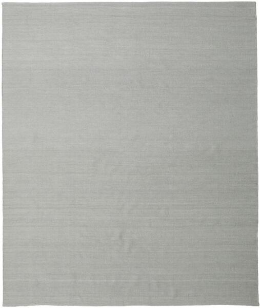 Kelim Loom - Grå Matta 250X300 Äkta Modern Handvävd Turkosblå/Ljusgrå Stor (Ull, Indien)