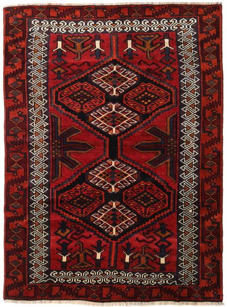 Lori Matta 165X223 Äkta Orientalisk Handknuten Mörkröd/Roströd (Ull, Persien/Iran)