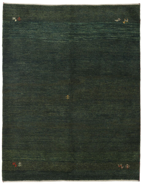 Gabbeh Persisk Matta 151X195 Äkta Modern Handknuten Mörkgrön/Mörkgrön (Ull, Persien/Iran)