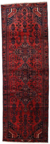 Hamadan Matta 105X313 Äkta Orientalisk Handknuten Hallmatta Mörkröd (Ull, Persien/Iran)