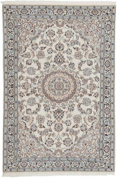 Nain 9La Matta 116X180 Äkta Orientalisk Handvävd Ljusgrå/Mörkgrå (Ull/Silke, Persien/Iran)