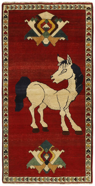 Ghashghai Matta 104X203 Äkta Orientalisk Handvävd Mörkröd/Mörkbrun (Ull, Persien/Iran)