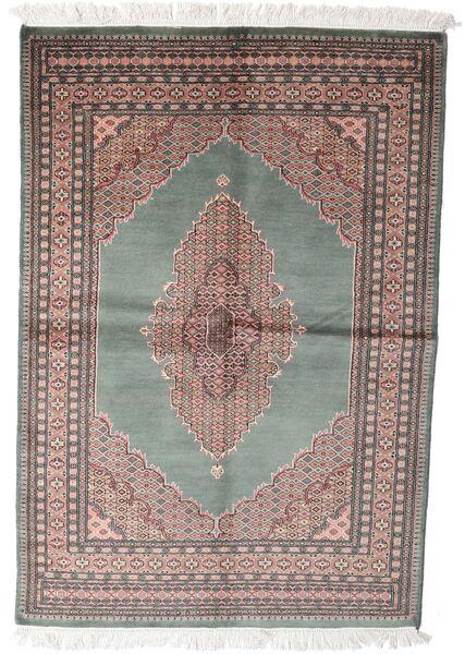 Pakistan Bokhara 3Ply Matta 143X208 Äkta Orientalisk Handknuten Mörkgrå/Vit/Cremefärgad (Ull, Pakistan)