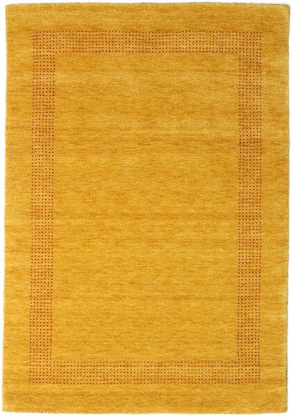 Handloom Gabba - Guld Matta 140X200 Modern Gul/Orange (Ull, Indien)