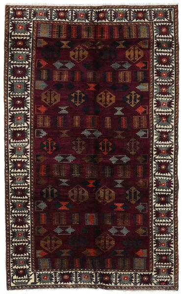 Lori Matta 148X244 Äkta Orientalisk Handknuten Mörkröd/Mörkgrå (Ull, Persien/Iran)